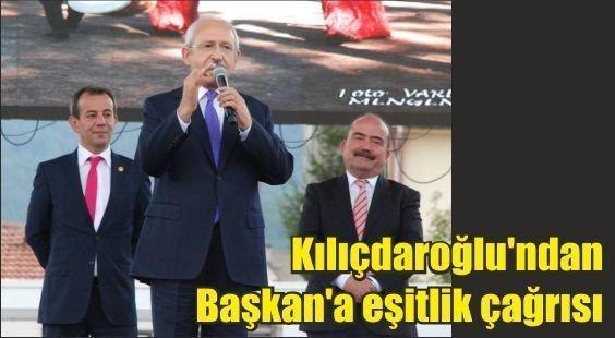 (Arşiv)Kılıçdaroğlu'ndan Başkan'a eşitlik çağrısı(Bolu Gündem)