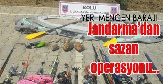 Jandarma'dan sazan operasyonu(Barajı köy kooperatifine bırakın)