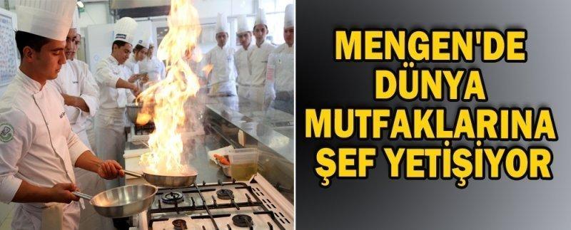 Mengen'de dünya mutfaklarına şef yetişiyor