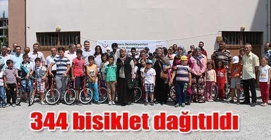 344 bisiklet dağıtıldı