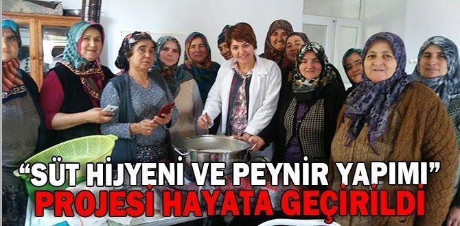"""""""SÜT HİJYENİ VE PEYNİR YAPIMI"""" PROJESİ HAYATA GEÇİRİLDİ"""