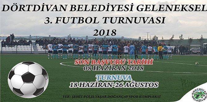 Dörtdivan Futbol Turnuvası başlıyor