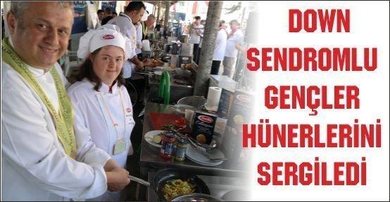 Down Sendromlu gençler Mengen'de yarıştı