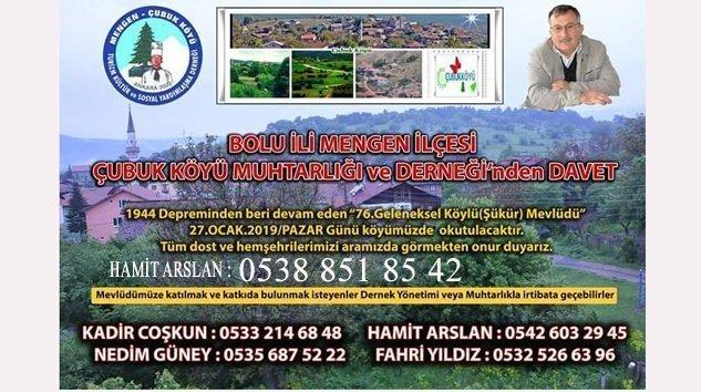Çubuk Köyü 76.Şükür Mevlid'ine Hazırlanıyor
