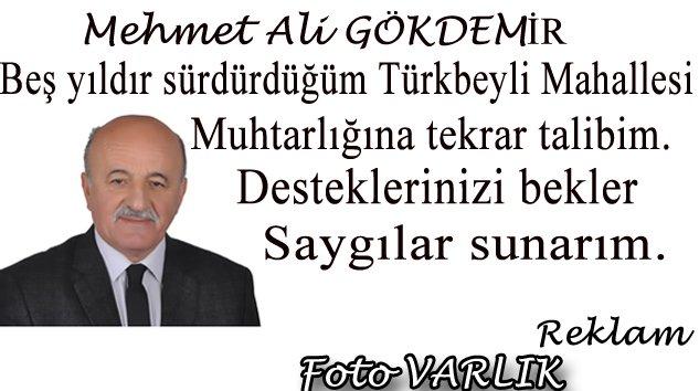 Mehmet Ali GÖKDEMİR Türkbeyli Mahalle Muhtar Adayı
