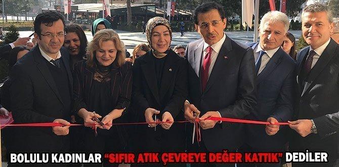 """BOLULU KADINLAR """"SIFIR ATIK ÇEVREYE DEĞER KATTIK"""" DEDİLER"""
