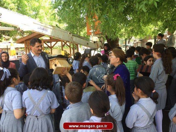 Cumhuriyet İlkokul'unda  Agaçlara Kuş Evi Yaptılar